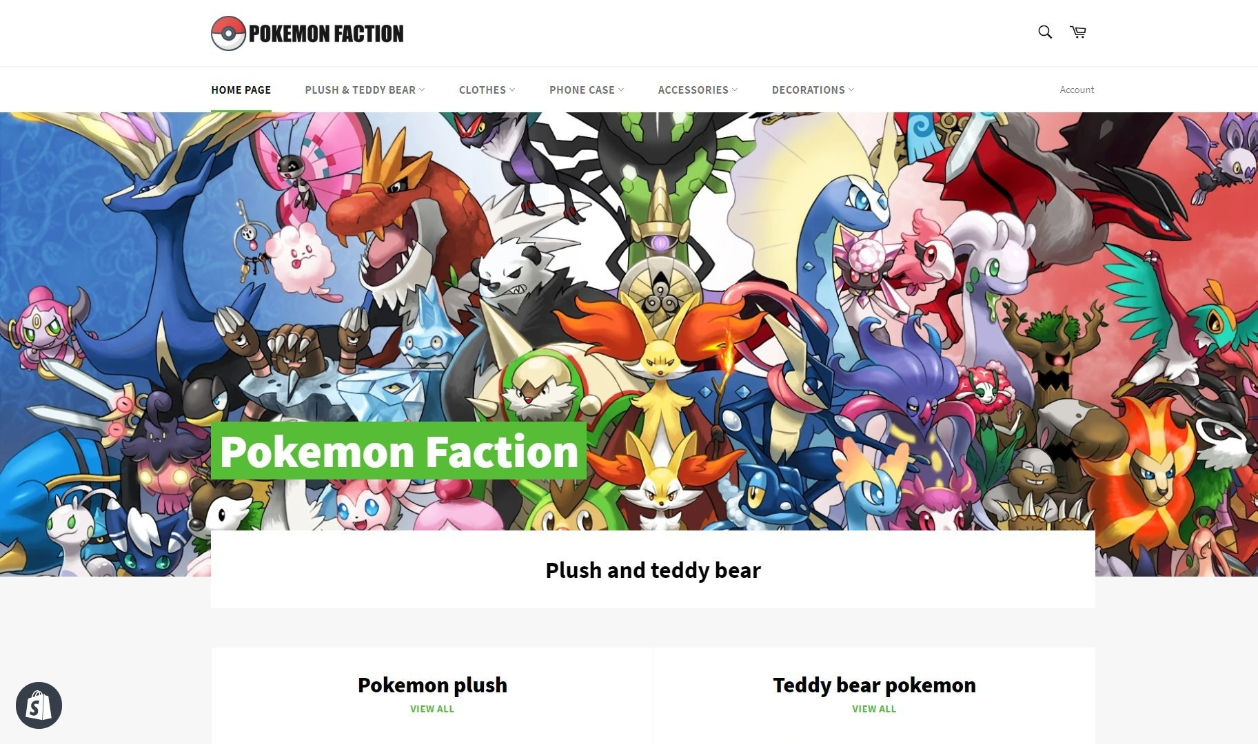 Boutique e-commerce Pokemon